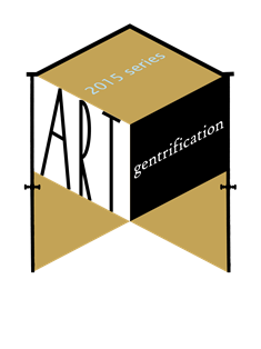 art and gentrification logo
