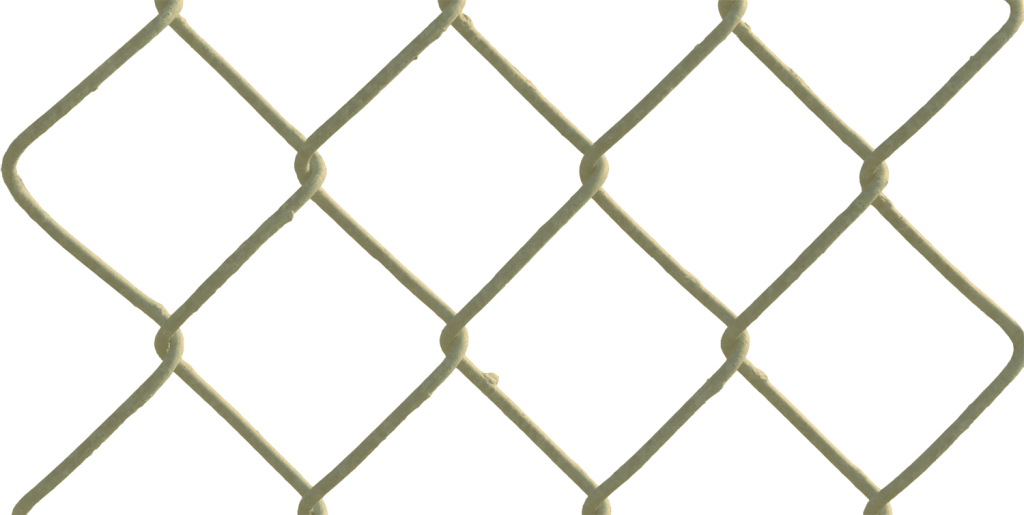 gold chain link fence